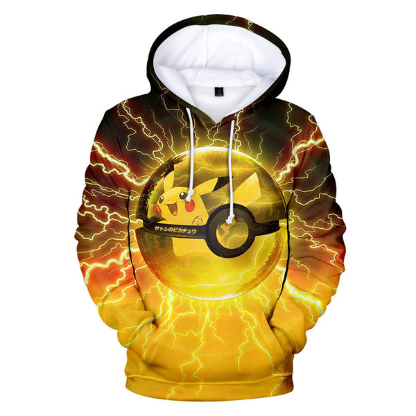 Pokemon Super Cute Thunder Pokemon Pikachu Awesome Graphic Hoodie