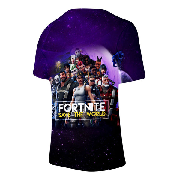 Kids Fortnite Short Sleeve Tshirt Round Neck shirts