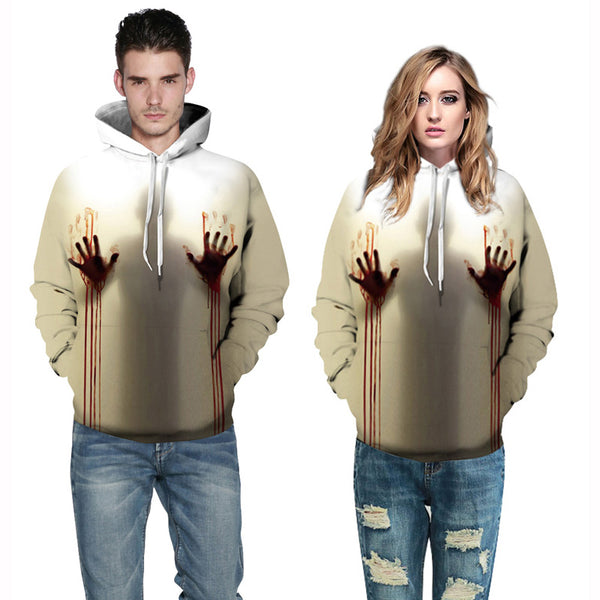 Long Sleeve Hands Pullover Sweatshirt 3D Painted Hoodies