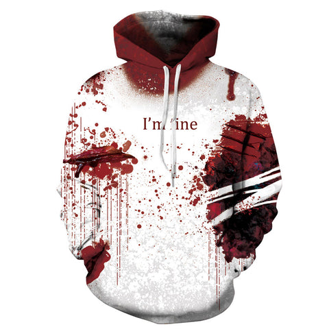 Causal Style Pullover Hoodies 3D Painted