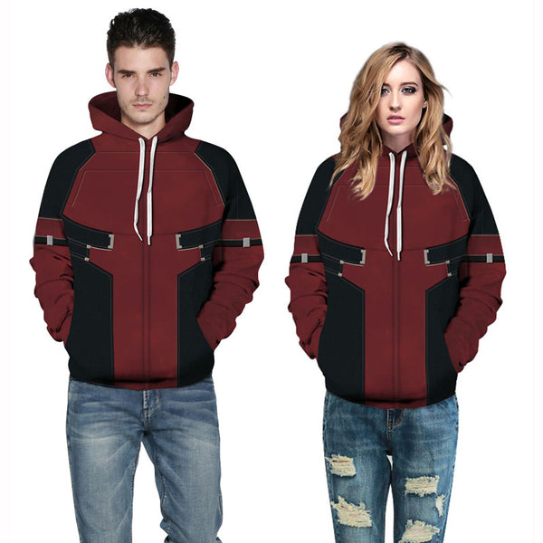 Long Sleeve Superhero 3D Pattern Pullover Sweatshirt