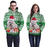 Unisex Casual 3D Dog Printed Drawstring Pullover Tops