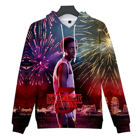 Lucas Sinclair Stranger Things 3D Hoodie