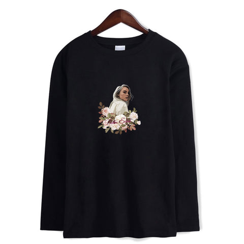 Billie Eilish Casual 3/4 Long Sleeve T-Shirt