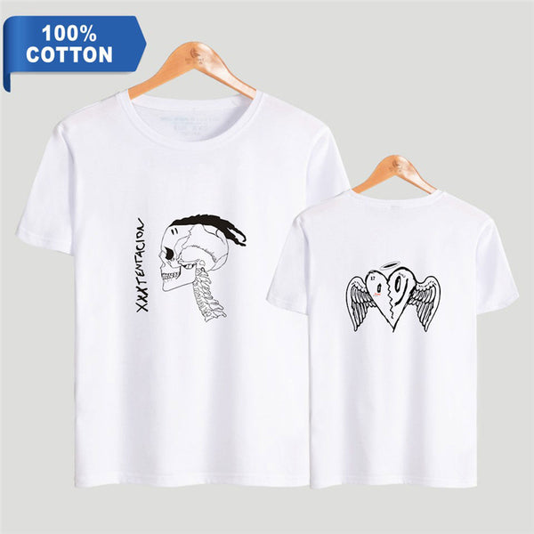 Men Women Xxxtentacion T-Shirt SKull Summer Short Sleeve Shirt