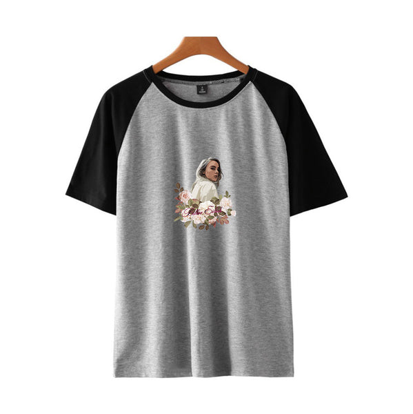 Unisex Billie Eilish T-Shirt  Floral Print Hip Hop Tee