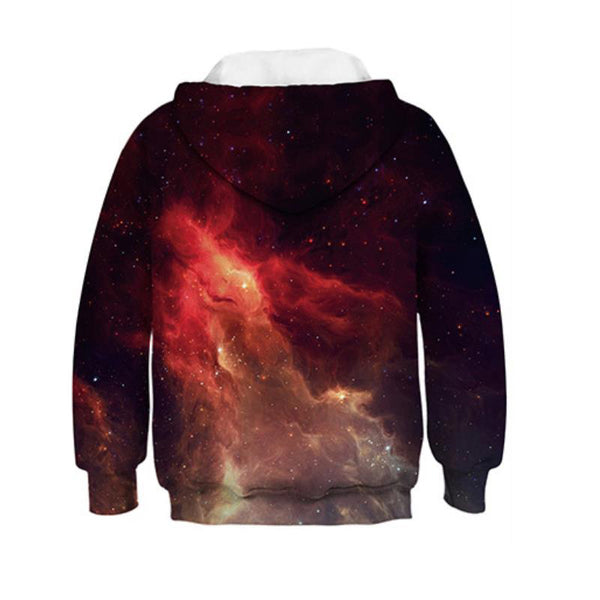 Novelty Galaxy Hoodies Kids Sweatshirts 4-13Y