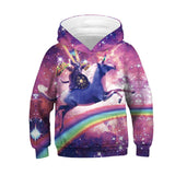 Novelty Girls Animal Hoodies Pullover Sweatshirts 4-13Y