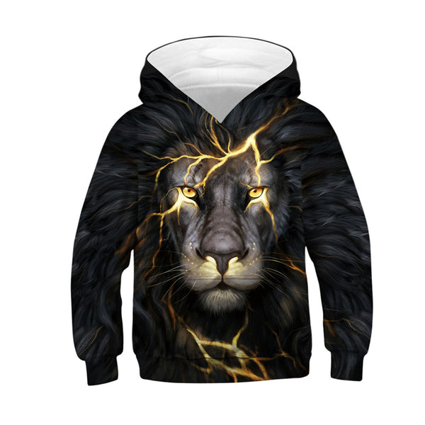 Youth Hoodie Animaly Hoodies 3d Lion Printed Sweatshirt 4-13Y
