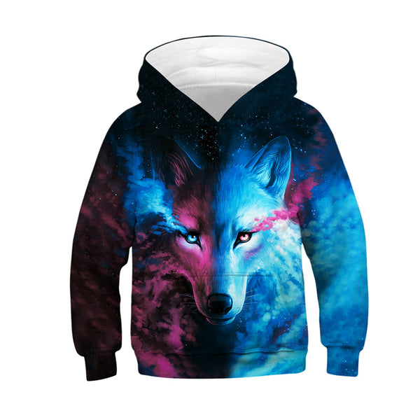 Cute Novelty Wolf Animal Galaxy Hoodies Sweatshirts
