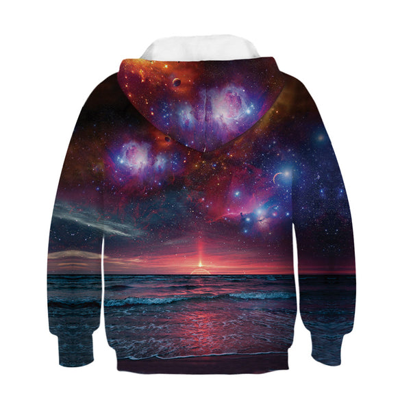 Youth Sweatshirt Novelty Galaxy Hoodies 4-13Y