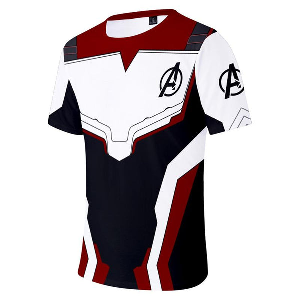 Avenger 4 Endgame Advanced White Tech Suit Tops Tee T-Shirt