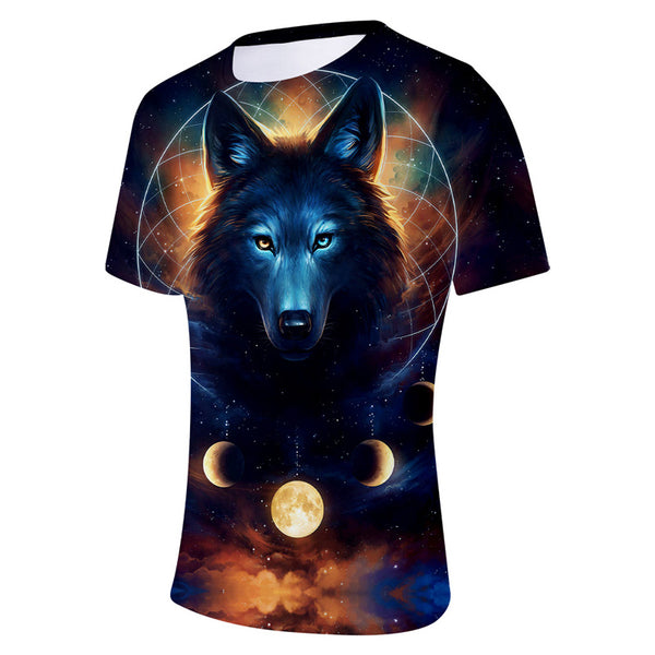 Unisex 3D Wolf T Shirts Short Sleeve T-Shirts Casual Tees