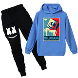 Cute Marshmello Hoodie With Pants Ideal Gift For 4-14Y