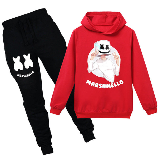 Marshmello Sweatshirt With Pants Ideal Gift For 4-14Y