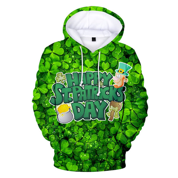 Best Sell St Patrick Hoodie For Unisex Irish Costume