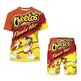 Cheetos Print short Tops Shorts Two-Piece Outfit Takis Summer Beach Casual Shorts 2Piece Outfits