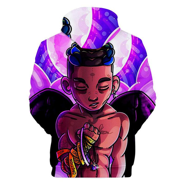 Unisex XXXtentacion Hoodies 3D Top Rapper Printed Sweatshirt