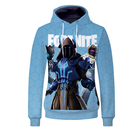 Youth Fortnite Hoodie Ice King Printed Casual Sweatshirt