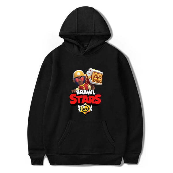 Brawl Stars Hoodie  Brock League Reward Print Long Sleeve Hoodies