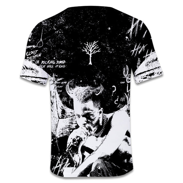 Xxxtentacion Summer Short Sleeve Casual Teen Tops Tee T-Shirt