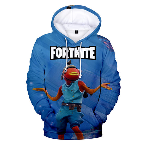 Fortnite Thor  Merman Printed Hoodie Pullover Sweatshirt
