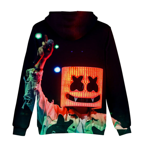 Unisex 3D Youth Marshmello Sweatshirt Casual Hoodie
