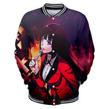 Unisex Kakegurui Jacket 3D Design Clothing Japanese Anime Merch