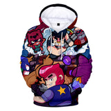 Youth Cute Hoodie Brawl Stars Hip Hop Sweatshirt