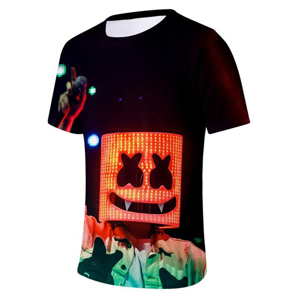 Marshmello Short Sleeve Tops T-shirt
