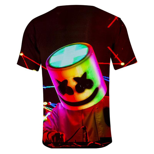 Youth Marshmello T-Shirt Unisex Short Sleeve Clothes