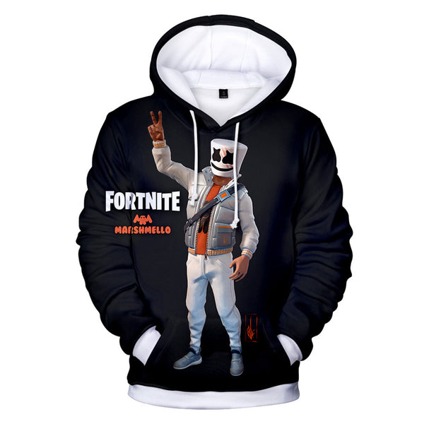 Youth Fortnite Hoodie Marshmello 3D Painted Hoodies