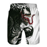 Venom Print short Tops Shorts Two-Piece Outfit Venom Summer Beach Casual Shorts 2Piece Outfits