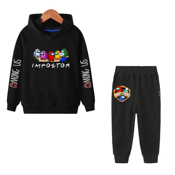 Kids Cotton Among Us Suit 2 Piece Outfit Tracksuit Sweatshirt