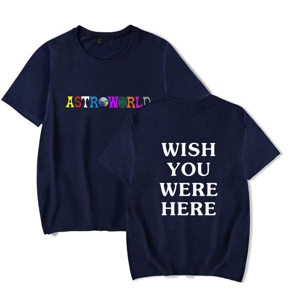 Astroworld Cotton T-shirt TravisScotts Short Sleeves Tops