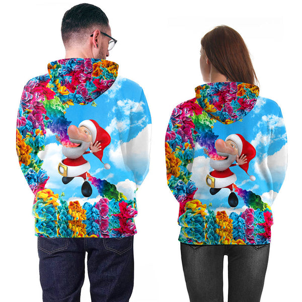 Funny Cartoon Santa 3D Printed Hoodie Sweatshirt Pullover