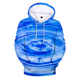 Long Sleeve Drop Of Water Ripple Pattern 3D Painted Hoodie