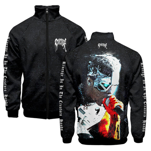 Men's Xxxtentacion Jacket Coat Zipper Long Sleeve Sport Sweatshirt