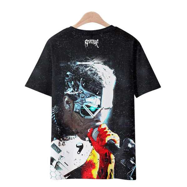 Men's Xxxtentacion T-Shirt Revenge Printed Cool Top Rap Tee Shirt