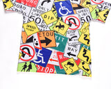 Creative Street Signs 3D Print loose-fitting T-shirt