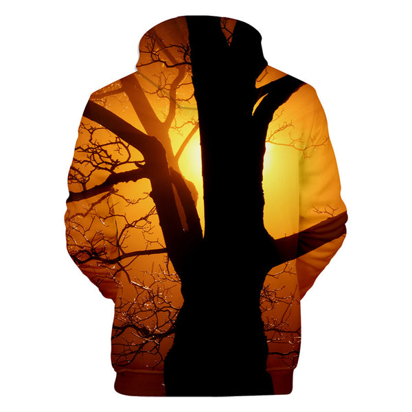 Beautiful Branches Print Hoodie