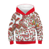 Boys Girls Christmas Hoodies Kids Tops Casual Children Loose Hoody
