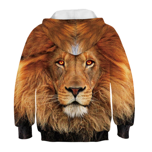 Cool Hoodies Kids Lion Printing Hoody