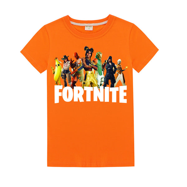 Kids Fortnite T-Shirt  Season 8 skin Cotton Shirt Funny Youth Tee