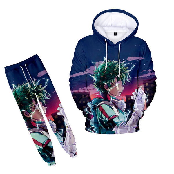 Deku My Hero Academia Drawstring Hoodie With Sweatpants