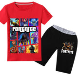 Fortnite Short Sets For Kids Cotton Summer Tee