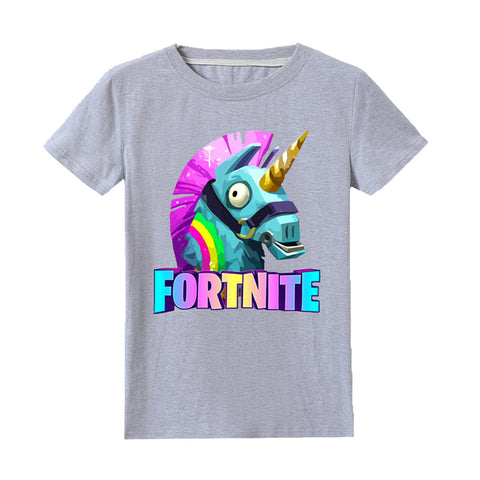 Kids Unicorn Print T-shirt Summer Tee For Youth