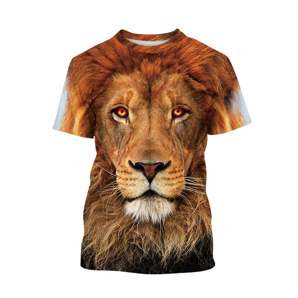 Funny Shirts Lion T shirt Printing for Kids