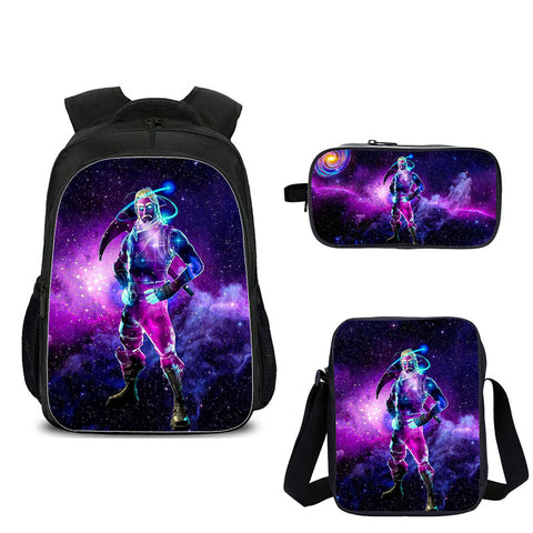 Galaxy Fortnite Backpack with shoulder bag and pencil box for school
