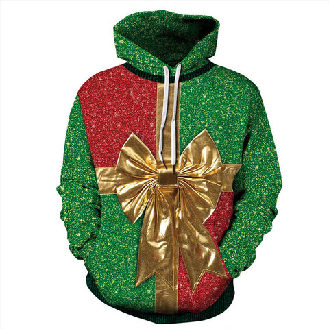 Green  Pullover Hoodies 3D Painted Sweatshirt